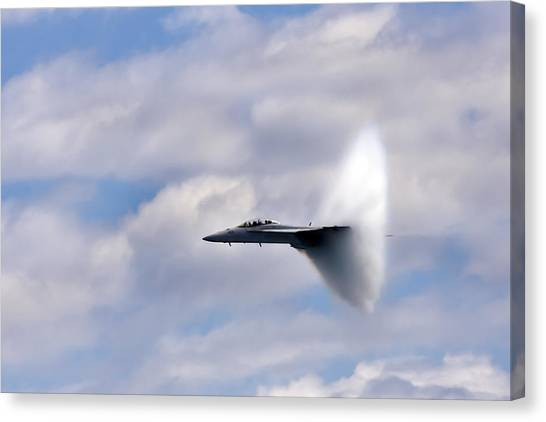 Airplanes Canvas Print - Breaking Through by Adam Romanowicz
