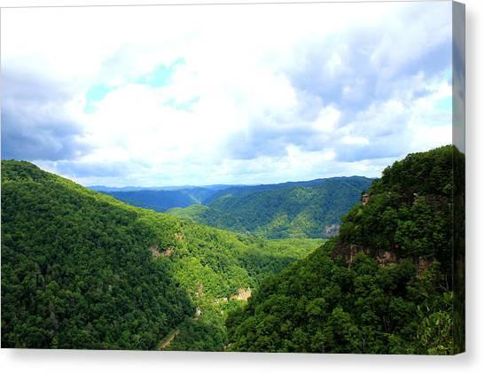 Interstates Canvas Print - Breaks Interstate Park Virginia Kentucky Overlook by Design Turnpike