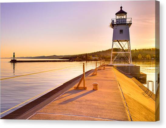 Breakwater Lights Redux Canvas Print