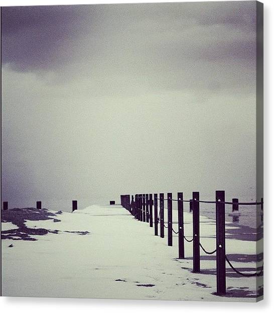 Instagood Canvas Print - Breakwater by Mike Maher