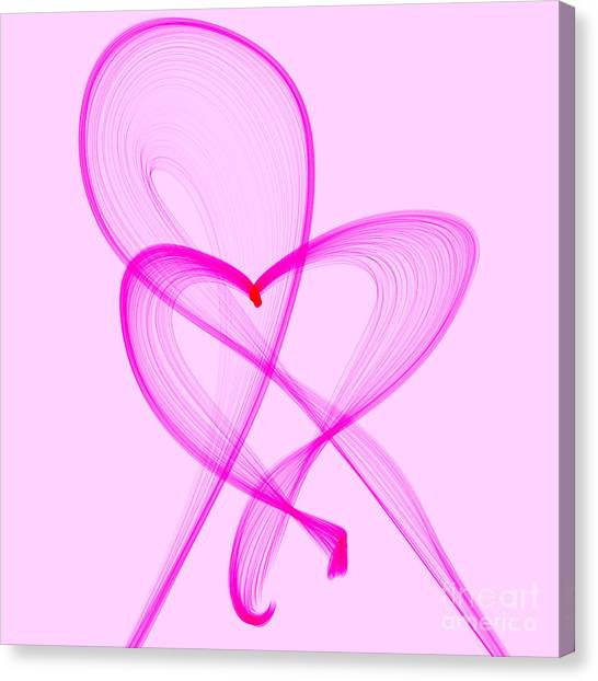 Breast Cancer Awareness . Love Canvas Print