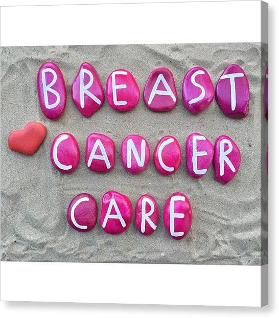 Health Care Canvas Print - Breast Cancer Care On Pink Colored by Adriano La Naia