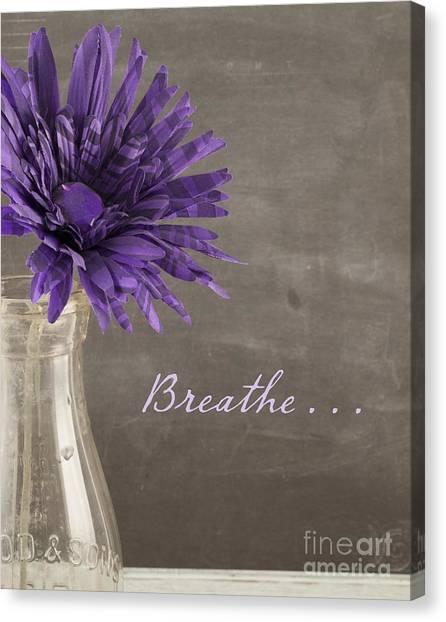 Breathe Canvas Print - Breathe by Juli Scalzi