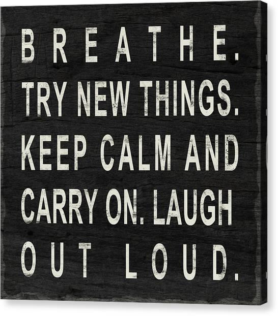 Breathe Canvas Print - Breathe by South Social Studio