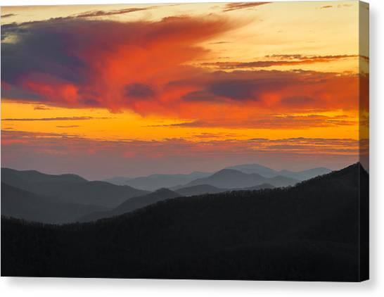 Breathtaking Blue Ridge Sunset Canvas Print