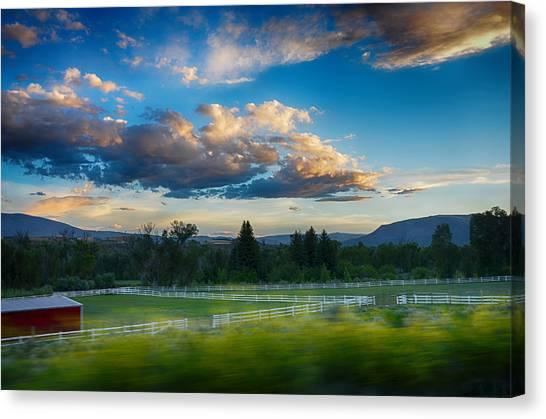 Breathtaking Colorado Sunset 1 Canvas Print