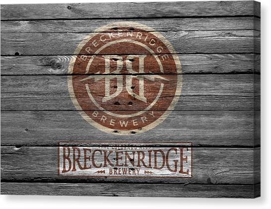 Beer Can Canvas Print - Breckenridge Brewery by Joe Hamilton