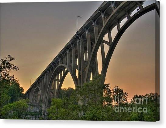 Brecksville Arched Bridge Canvas Print