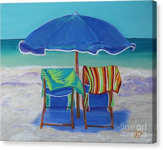 Breezy Beach Day Canvas Print
