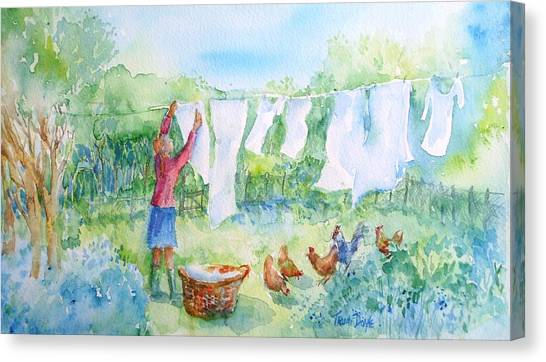 Breezy Day  -great Drying Out Canvas Print