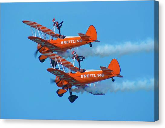 Sunderland Canvas Print - Breiting Wingwalkers by Mark Williamson