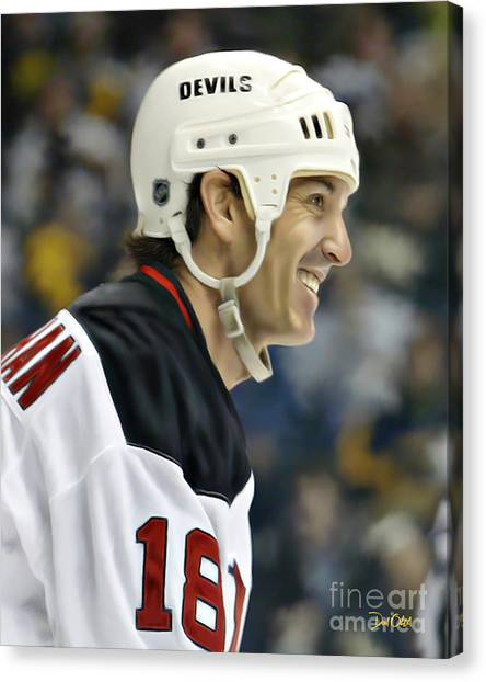 New Jersey Devils Canvas Print - Brendan Shanahan by Don Olea