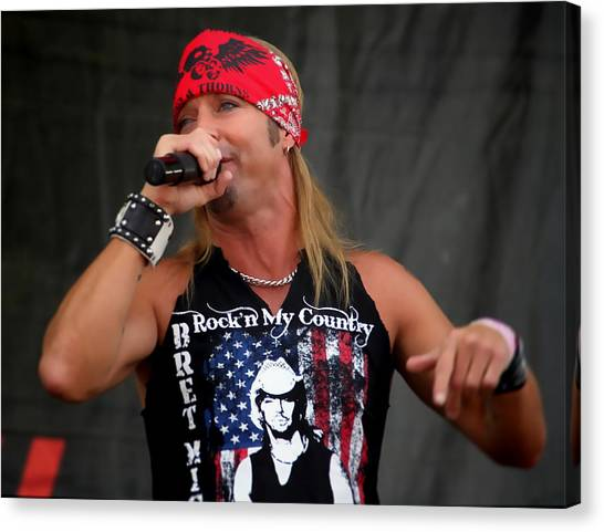 Bret Michaels In Philly Canvas Print