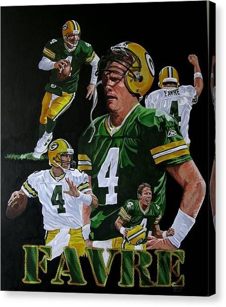 Brett Farve Canvas Print