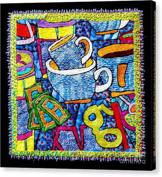 Brew And U Canvas Print by Susan Sorrell