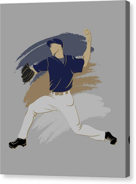 Milwaukee Brewers Canvas Print - Brewers Shadow Player by Joe Hamilton