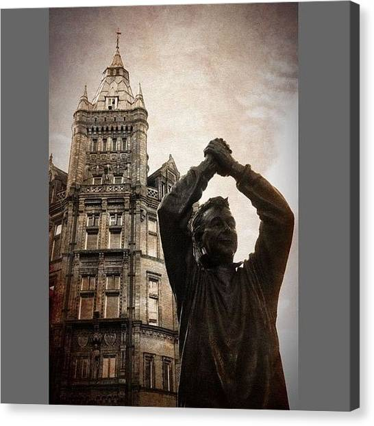 Football Players Canvas Print - #brian Clough #statue #tribute by Enoch Soames