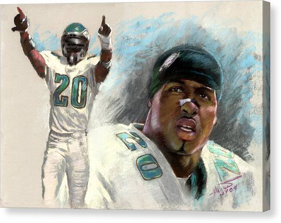 Philadelphia Eagles Canvas Print - Brian Dawkins by Viola El