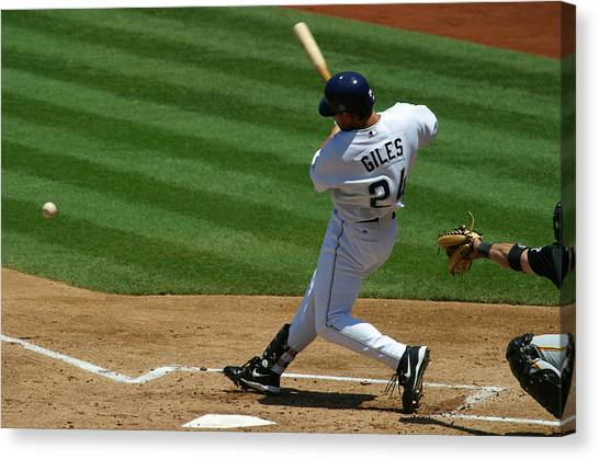 San Diego Padres Canvas Print - Brian Giles by Don Olea