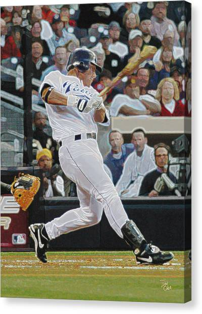 San Diego Padres Canvas Print - Brian Giles  Padres by Don Olea