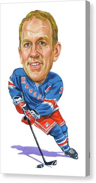 New York Rangers Canvas Print - Brian Leetch by Art