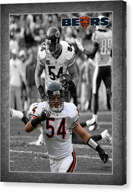 Brian Urlacher Canvas Print - Brian Urlacher Bears by Joe Hamilton