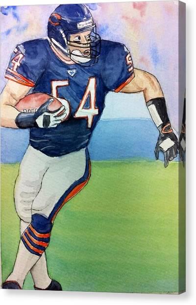 Brian Urlacher Canvas Print - Brian Urlacher by Tiffany Albright