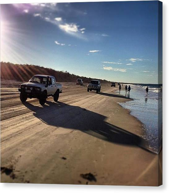Offroading Canvas Print - Bribie Island Recreation Area : by Tony Keim