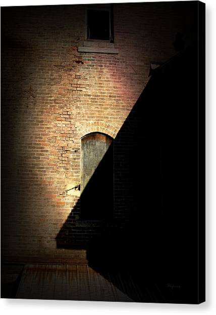 Brick And Shadow Canvas Print