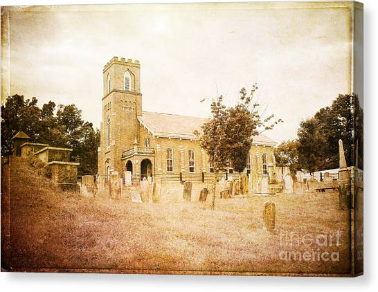 Brick Church In Montgomery Canvas Print