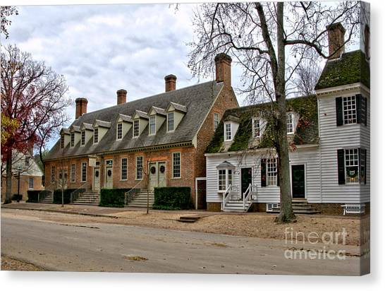 Brick House Canvas Print - Brick House Tavern In Williamsburg by Olivier Le Queinec