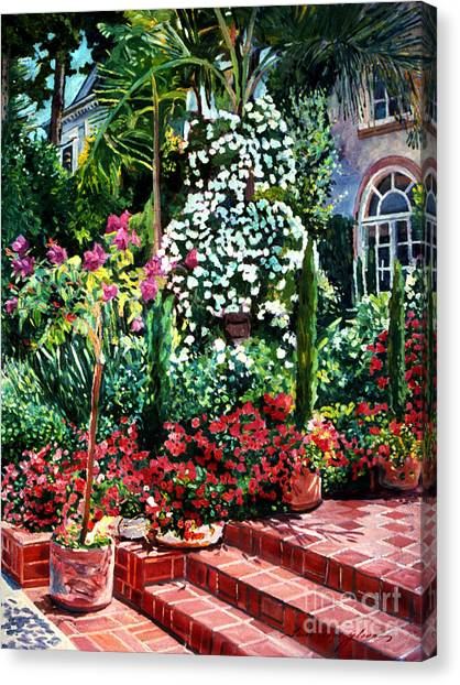 Beverly Hills Canvas Print - Brick Steps by David Lloyd Glover