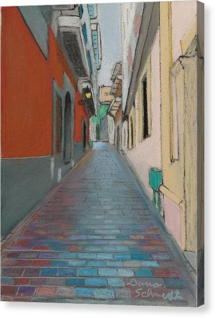 Brick Street In Old San Juan Puerto Rico Canvas Print