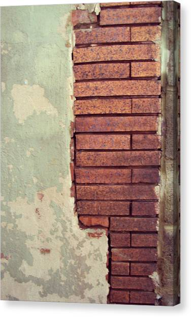 Brick Wall Canvas Print by Cynthia Harvey