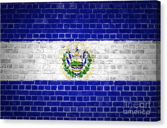 Brick Wall El Salvador Canvas Print