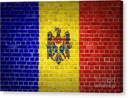 Brick Wall Moldova Canvas Print