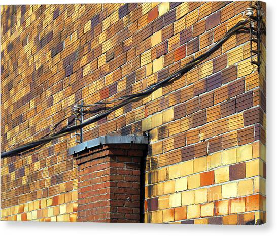 Bricks And Wires Canvas Print