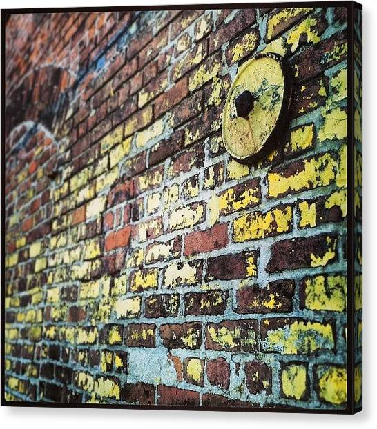Warehouses Canvas Print - #bricks #colors #textures #nola by Glen Abbott