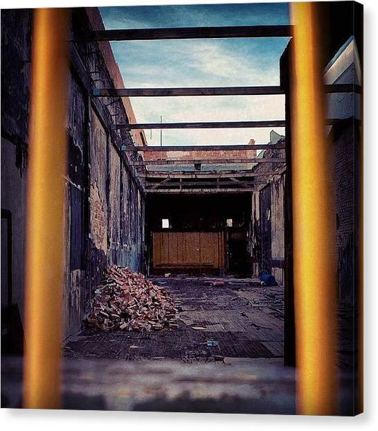 Warehouses Canvas Print - Bricks On Bricks On Bricks by Terrence Jeffrey Santos
