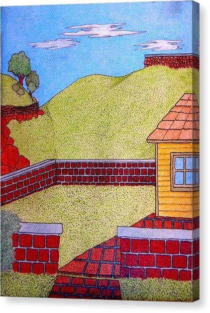 Bricks Y Casa El Lado Canvas Print