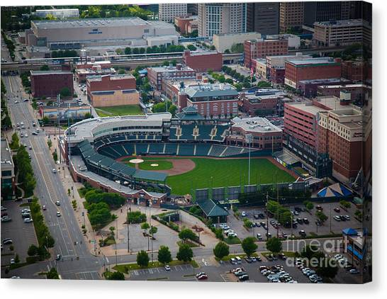 Bricktown Ballpark D Canvas Print
