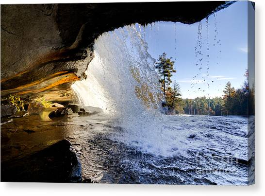 Bridal Canvas Print - Bridal Veil Falls In Dupont State Forest Nc 2 by Dustin K Ryan