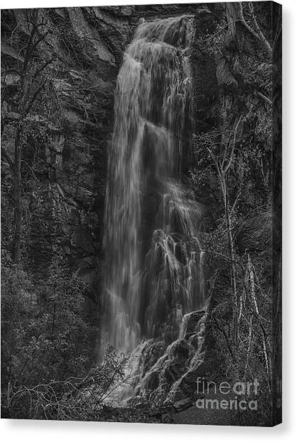 Bridal Veil Falls At Spearfish Canyon South Dakota Canvas Print