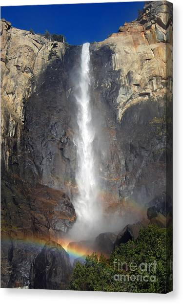 Bridalveil Falls Double Rainbow Canvas Print