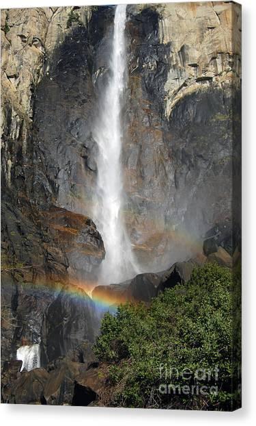 Bridalveil Falls No Sky Canvas Print