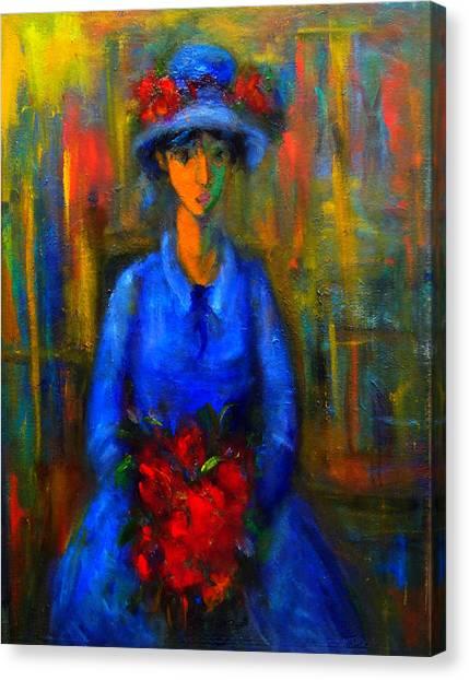 Bride In Blue  Canvas Print
