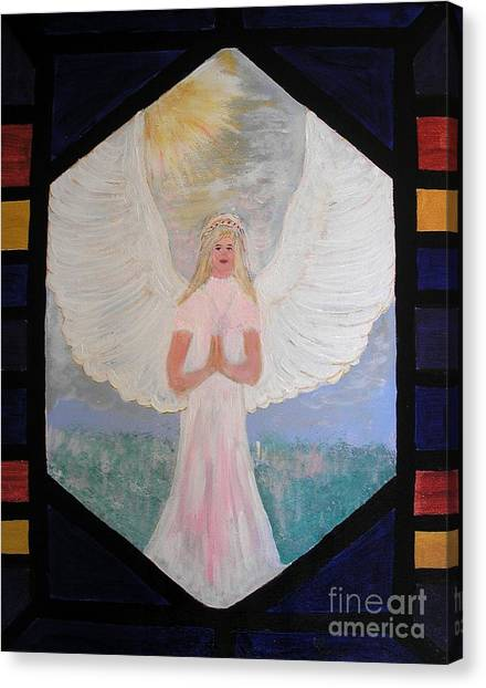 Angel In Prayer  Canvas Print