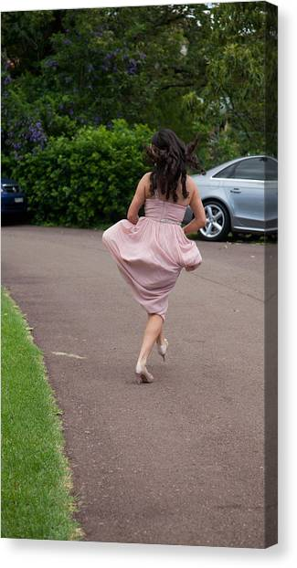 Bridesmaid's Joy Canvas Print by Carole Hinding