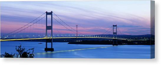 Severn River Canvas Print - Bridge Across A River At Dusk, Severn by Panoramic Images