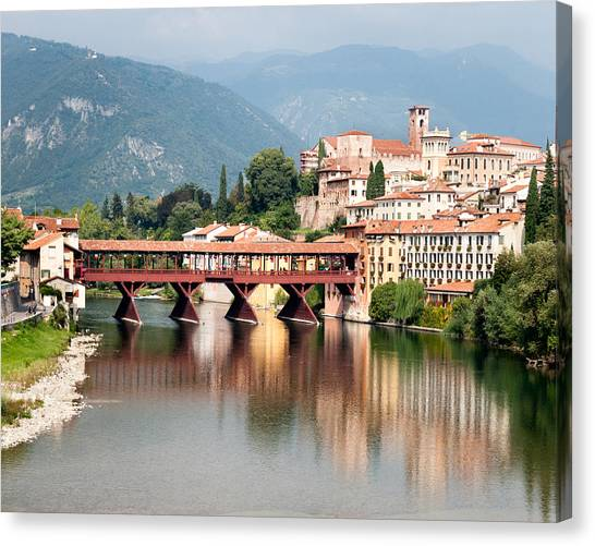 Bridge At Bassano Del Grappa Canvas Print
